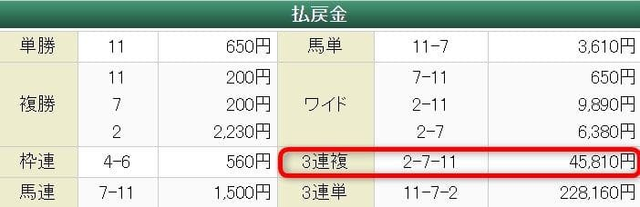2019年7月20日中京7R 結果