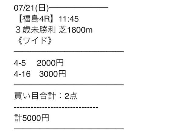 2019年7月21日福島4R